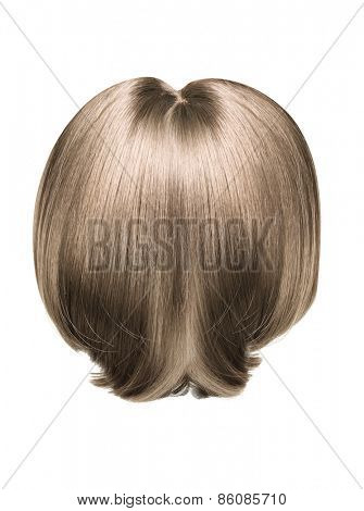 Brown hair isolated on white