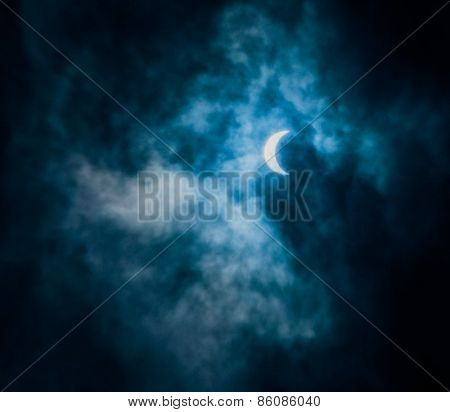 Beautiful sky with crescent