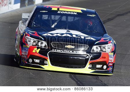 Fontana, CA - Mar 20, 2015:  Jeff Gordon (24) takes to the track to practice for the Auto Club 400 at Auto Club Speedway in Fontana, CA.