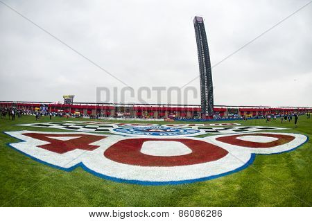 Fontana, CA - Mar 22, 2015:  Auto Club Speedway plays host to the Auto Club 400 NASCAR race in Fontana, CA.