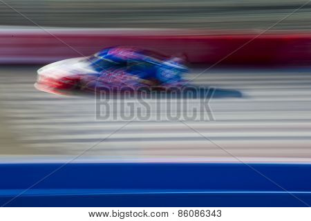 Fontana, CA - Mar 21, 2015:  Joey Logano (22) takes to the track for the Auto Club 400 at Auto Club Speedway in Fontana, CA.