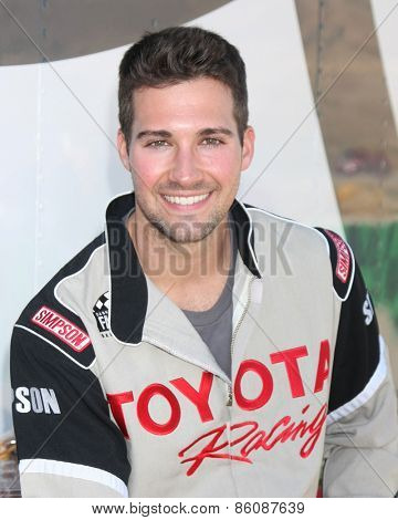 LOS ANGELES - FEB 21:  James Maslow at the Grand Prix of Long Beach Pro/Celebrity Race Training at the Willow Springs International Raceway on March 21, 2015 in Rosamond, CA
