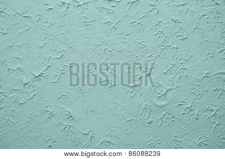 Blue Wall With Stucco Embossed