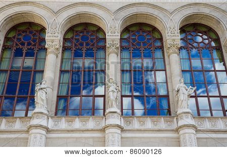 Vigado Concert Hall Facade And Windows, Budapest