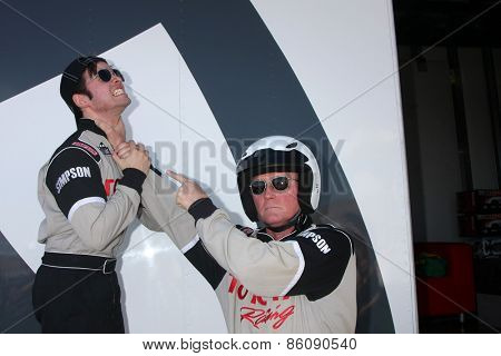 LOS ANGELES - FEB 21:  Nathan Kress, Robert Patrick at the Grand Prix of Long Beach Pro/Celebrity Race Training at the Willow Springs International Raceway on March 21, 2015 in Rosamond, CA