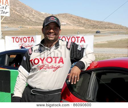 LOS ANGELES - FEB 21:  Alfonso RIbiero at the Grand Prix of Long Beach Pro/Celebrity Race Training at the Willow Springs International Raceway on March 21, 2015 in Rosamond, CA
