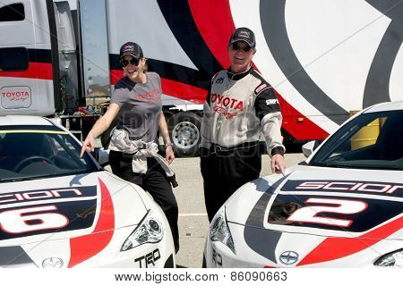 LOS ANGELES - FEB 21:  Tricia Helfer, Robert Patrick at the Grand Prix of Long Beach Pro/Celebrity Race Training at the Willow Springs International Raceway on March 21, 2015 in Rosamond, CA