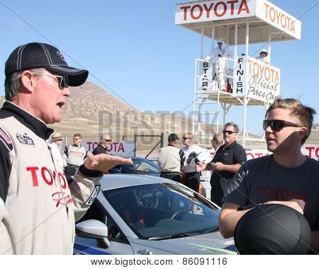 LOS ANGELES - FEB 21:  Robert Patrick, Brett Davern at the Grand Prix of Long Beach Pro/Celebrity Race Training at the Willow Springs International Raceway on March 21, 2015 in Rosamond, CA