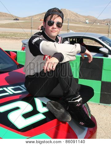 LOS ANGELES - FEB 21:  Nathan Kress at the Grand Prix of Long Beach Pro/Celebrity Race Training at the Willow Springs International Raceway on March 21, 2015 in Rosamond, CA