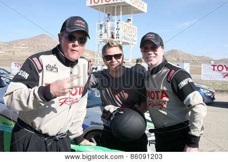 LOS ANGELES - FEB 21:  Robert Patrick, Brett Davern, John Rzeznik at the Grand Prix of Long Beach Pro/Celebrity Race Training at the Willow Springs Raceway on March 21, 2015 in Rosamond, CA