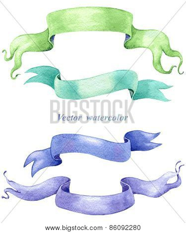 Ribbon Banners Set