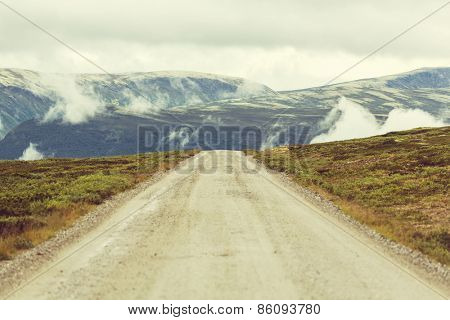 Road in Norway mountains