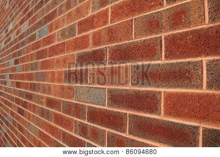 Long brick wall