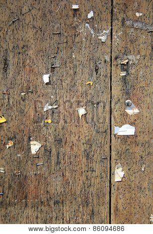 Old wood bulletin board
