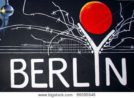 Berlin Germany. East Side Gallery