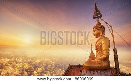 Buddha In Wat Tham Seua (tiger Cave), Krabi, Thailand