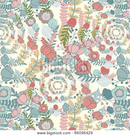 Elegant Pattern With Flowers