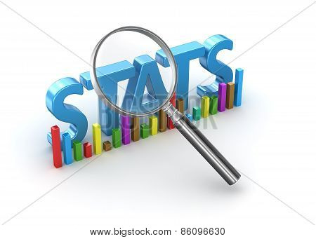 Stats Text And Magnify Glass