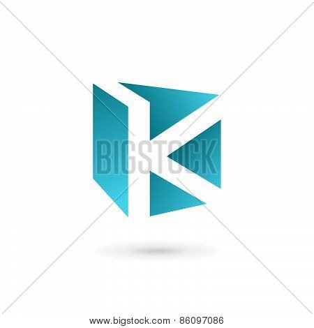 Letter K Book Logo Icon Design Template Elements