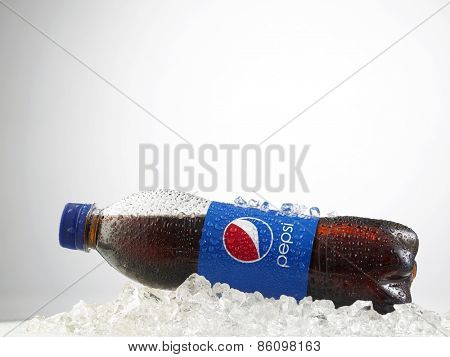 Kuala Lumpur-Malaysia : March 23,2015 Photo of  bottle of pepsi, The brand is one of the most popular soda products in the world and it is sold almost everywhere