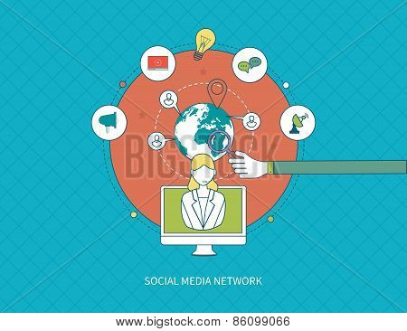 Communication, distance education and social media.