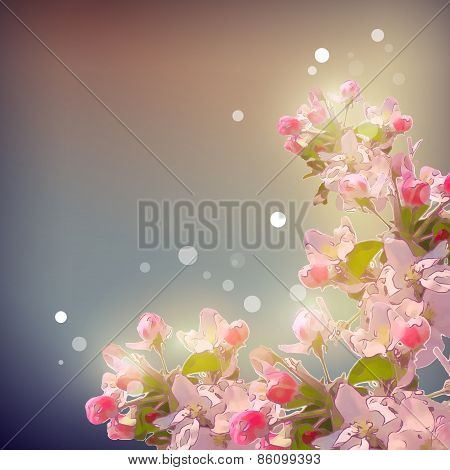 Shining Cherry blossom background