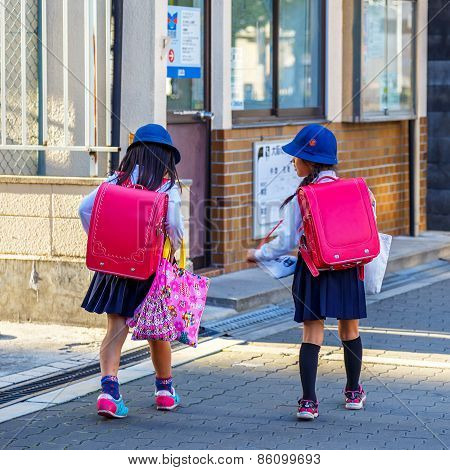 Japanese Students In Osaka, Japan
