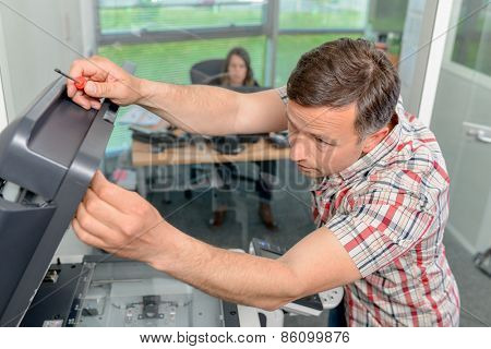 Trying to repair the office printer