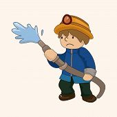 image of fireman  - Fireman Theme Elements Vector - JPG