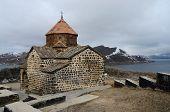 foto of armenia  - Surp Astvatsatsin church in Sevanavank orthodox monasterylocated on peninsula at northwestern shore of Lake Sevan in Gegharkunik Province of Armenia - JPG