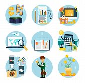 picture of accountability  - Set of flat icons of earnings - JPG