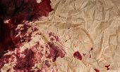 picture of taint  - crumpled paper with blots - JPG
