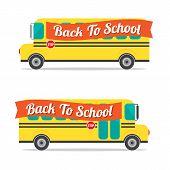 stock photo of driving school  - Yellow Bus School On White Background Illustration - JPG
