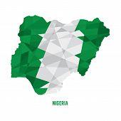 stock photo of nigeria  - Map of Nigeria Vector Illustration - JPG
