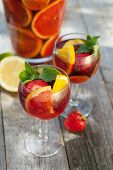 stock photo of refreshing  - Refreshing fruit sangria  - JPG