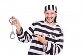 foto of prison uniform  - Prison inmate isolated on the white background - JPG