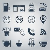 picture of fire-station  - Gas station icons - JPG