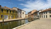 image of ferrara  - Comacchio (Ferrara Emilia-Romagna Italy): the typical city with its canals