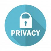 foto of safeguard  - privacy blue flat icon   - JPG