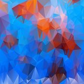 stock photo of undersea  - vector polygonal background with irregular tessellations pattern  - JPG