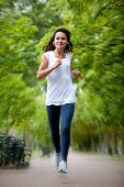 Постер, плакат: Женщина бег трусцой