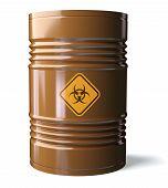 picture of bio-hazard  - Barrel with Bio - JPG