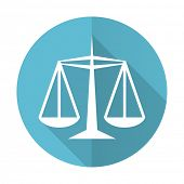 image of judiciary  - justice blue flat icon law sign  - JPG