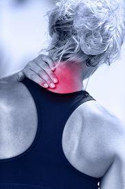 stock photo of hurt  - Hurting neck  - JPG