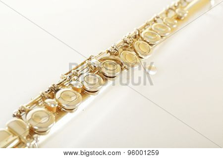 Flute isolated on white