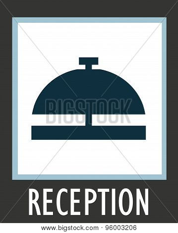 Vector simple icon call the receptionist at hotel