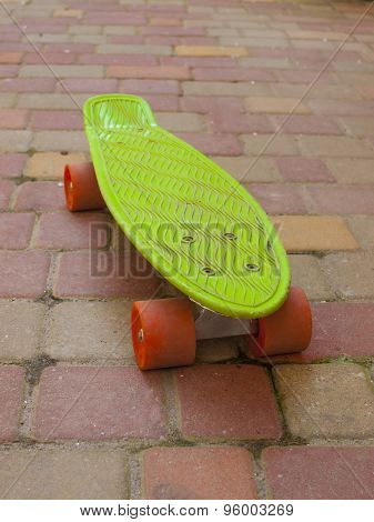 Skateboard On The Street.