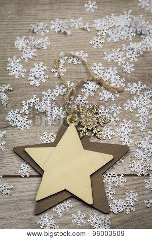 Handmade Decorative Textile Christmas Heart