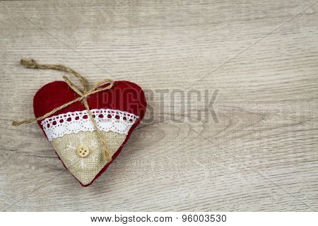 Christmas Background With Wood Grain Texture