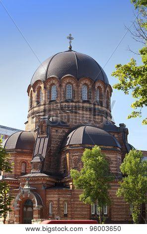 The Narva Voskresensky Cathedral orthodox temple. Narva. Estonia